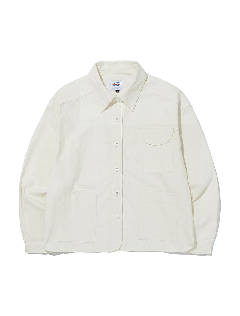 Pocket short shirts [white]