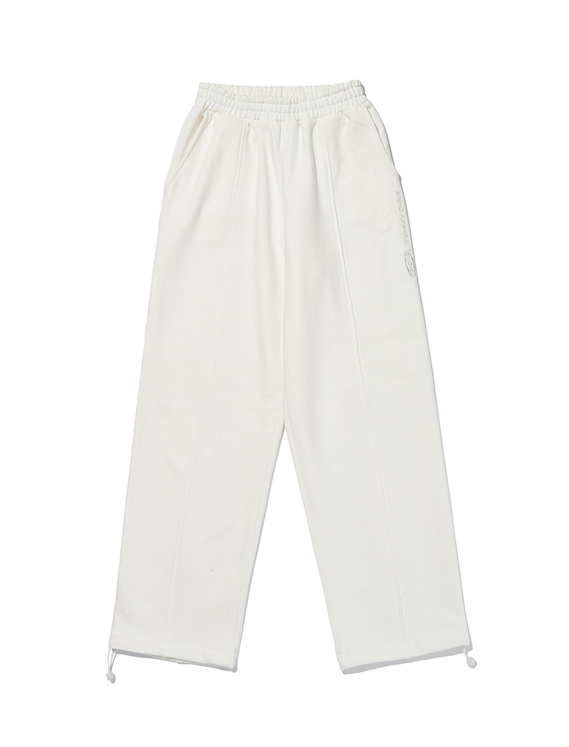 Pin wide sweatpants [ivory]