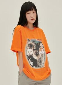 Cat squad goals tee [orange]
