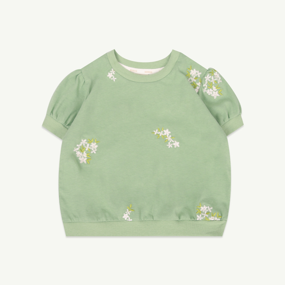 Green embroidery top ( 당일발송 )
