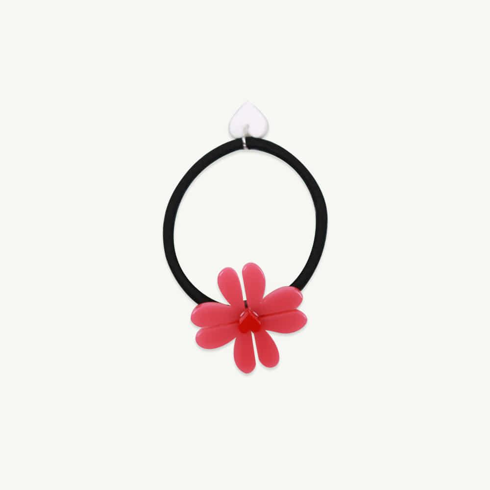 Heart flower hair band - pink ( 1pcs,당일발송 )