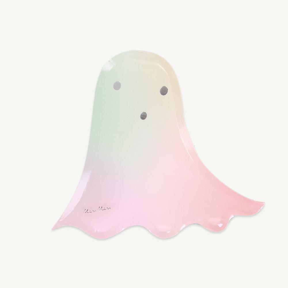 [MeriMeri] Pastel halloween ghost plates (8pcs,당일발송)