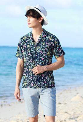 연인꽃 남성여름셔츠