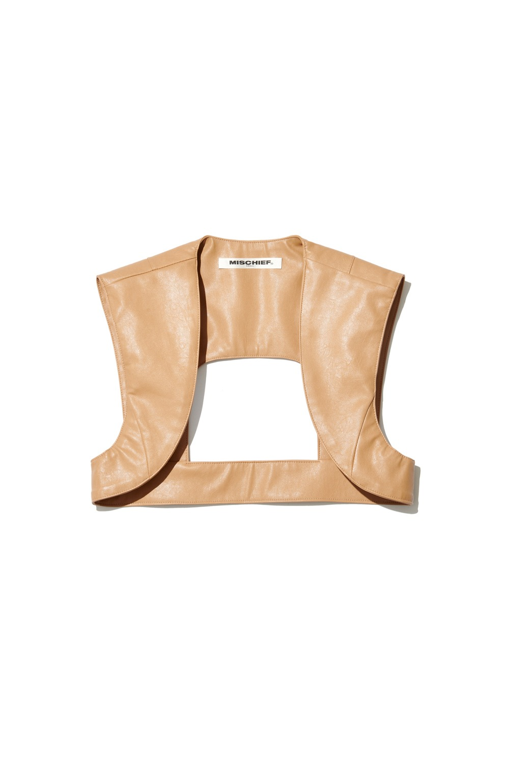 PROJECT MAGO_FAUX LEATHER ARMOUR_BEIGE