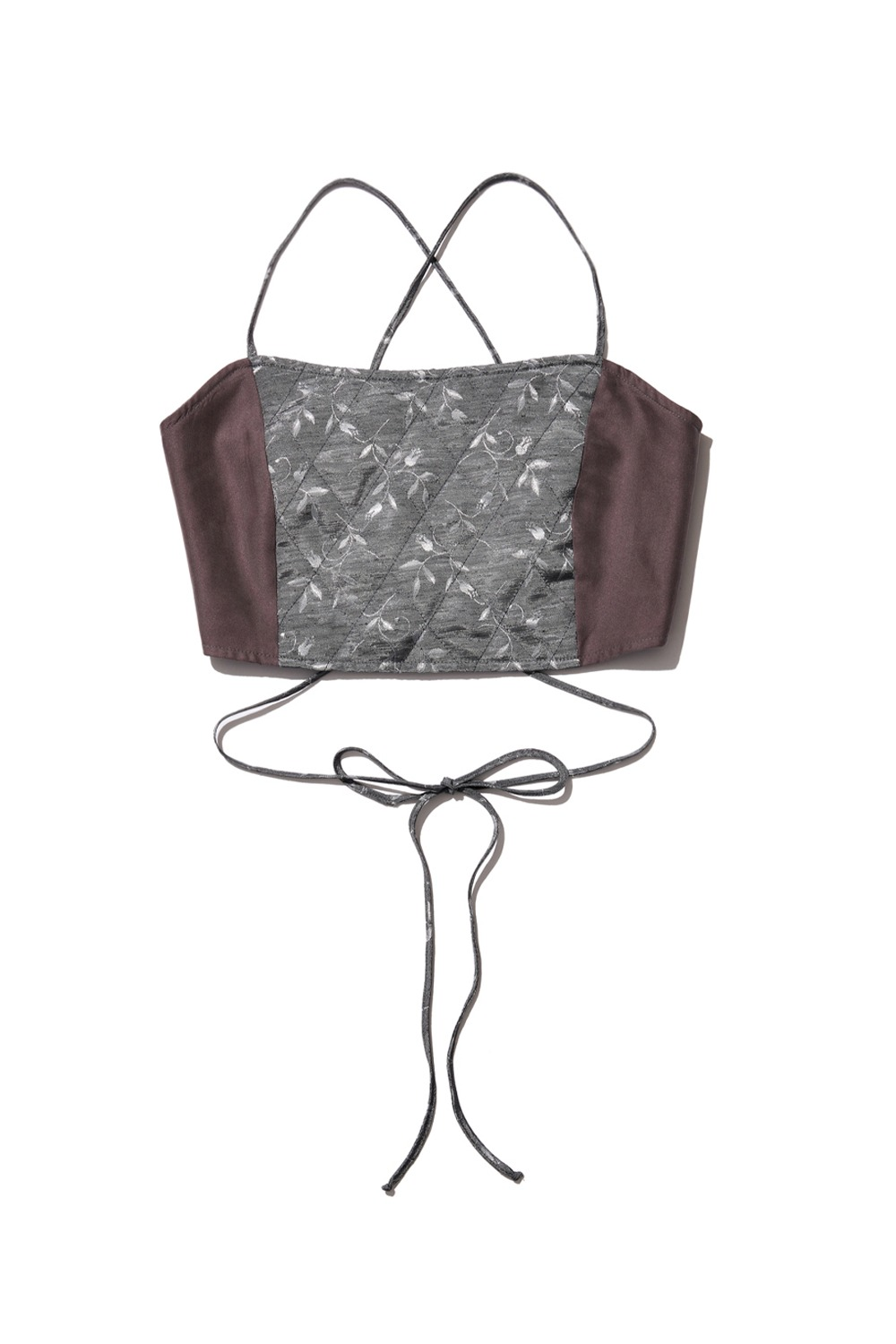 PROJECT MAGO_QUILTED BUSTIER_GREY