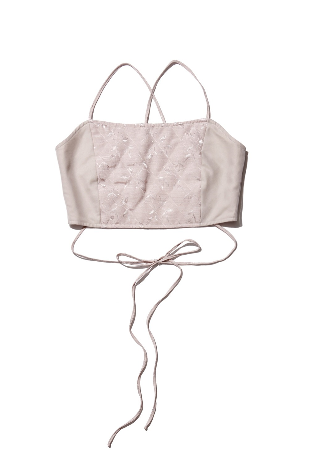 PROJECT MAGO_QUILTED BUSTIER_CREAM