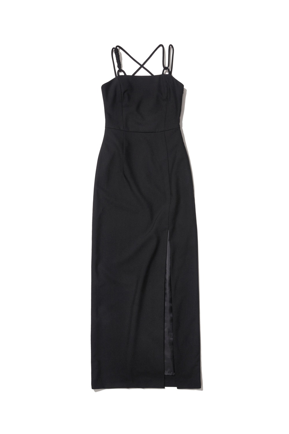 PROJECT MAGO_TAILORED STRAP DRESS_BLACK