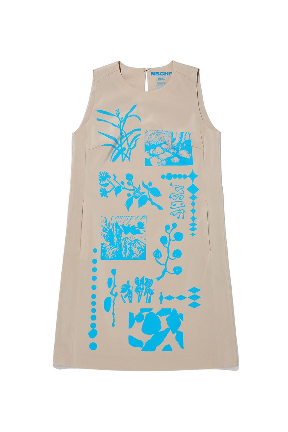 2021 CALL OUT_NAMSAN EDITION SLIT DRESS_BEIGE