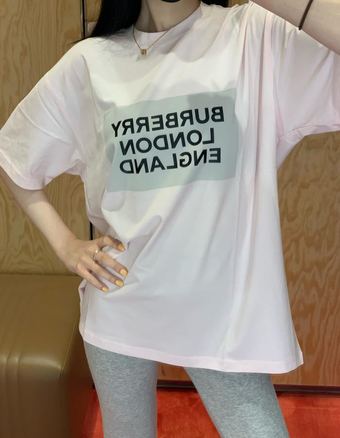 버버리 80268821 아리아나 코튼 티셔츠 / 클라우드 핑크 / BUROL