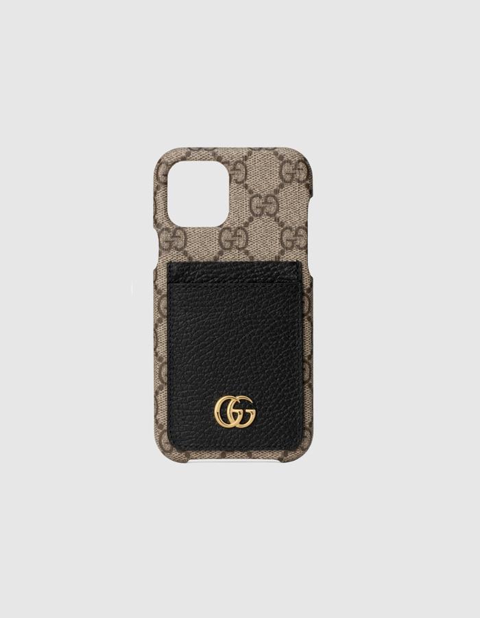 구찌 669895 GG 마몬트 아이폰 12 프로 케이스 / 베이지x블랙