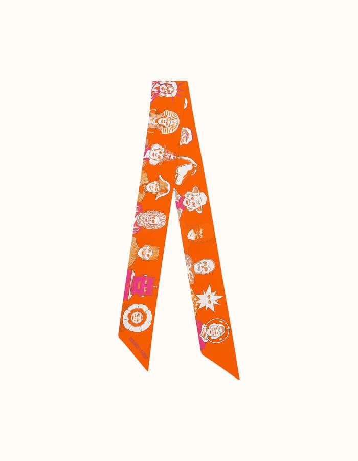 에르메스 드레스 코드 트윌리 / 오렌지x푸시아
