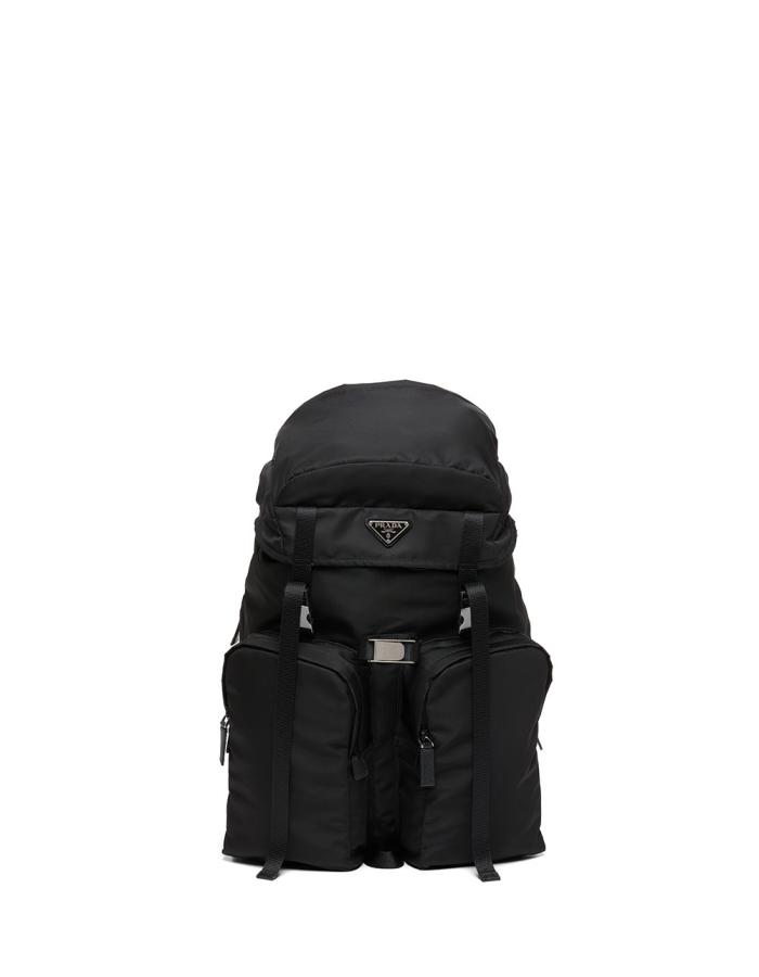 프라다 맨즈 2VZ019 로고 백팩 / 블랙