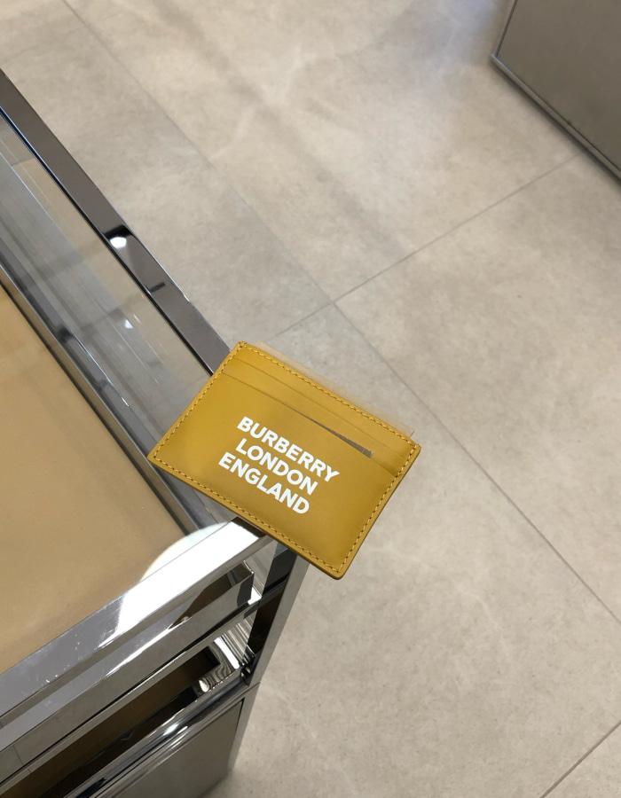 버버리 80388431 로고 프린트 레더 카드 케이스 / 라이트 코퍼 / BUROL