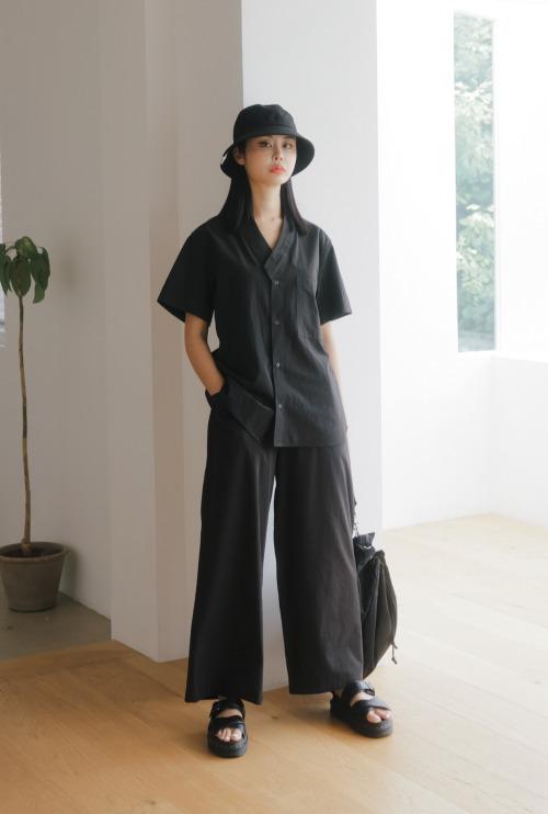 남녀공용 셔츠 | 부암동 빈티지 블랙 T1J03B072