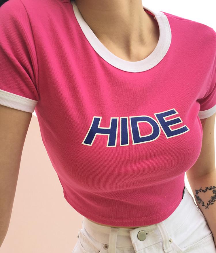 [現貨在台]HIDE配色短版T恤