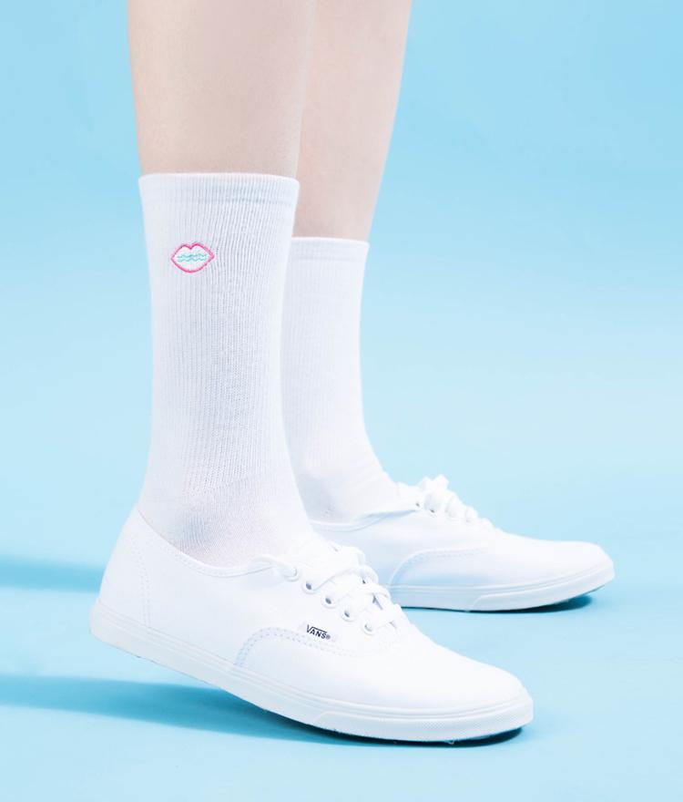 SEANLIPEmbroidered Logo Socks