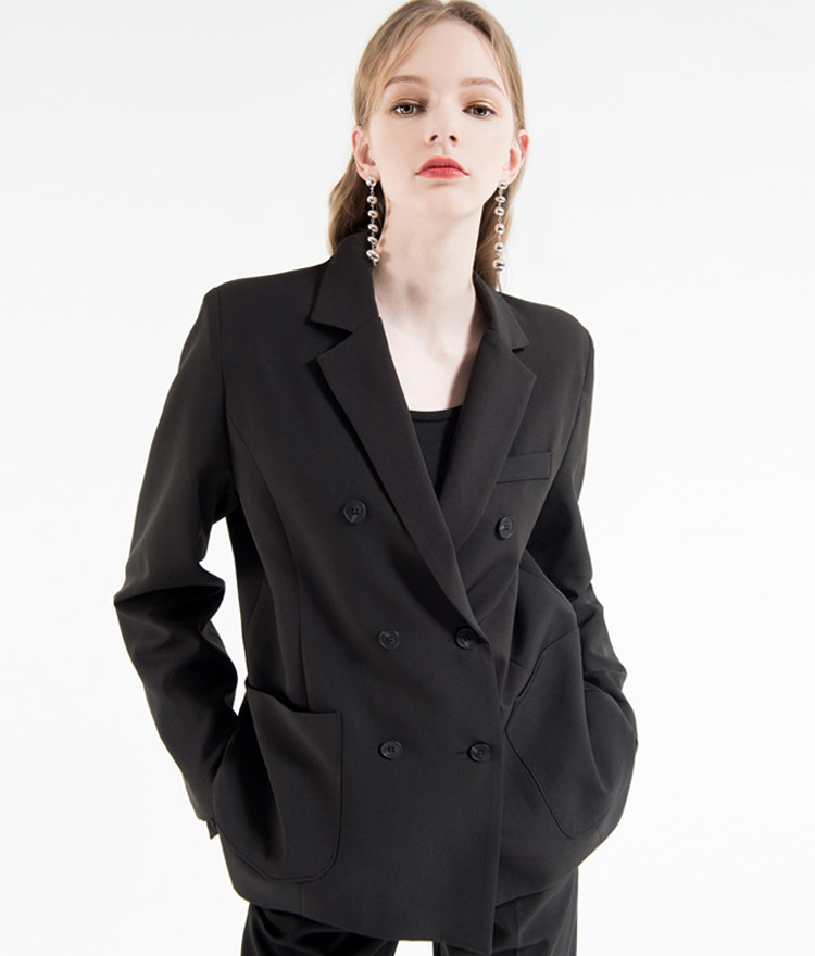 Double-Breasted Loose Fit Jacket