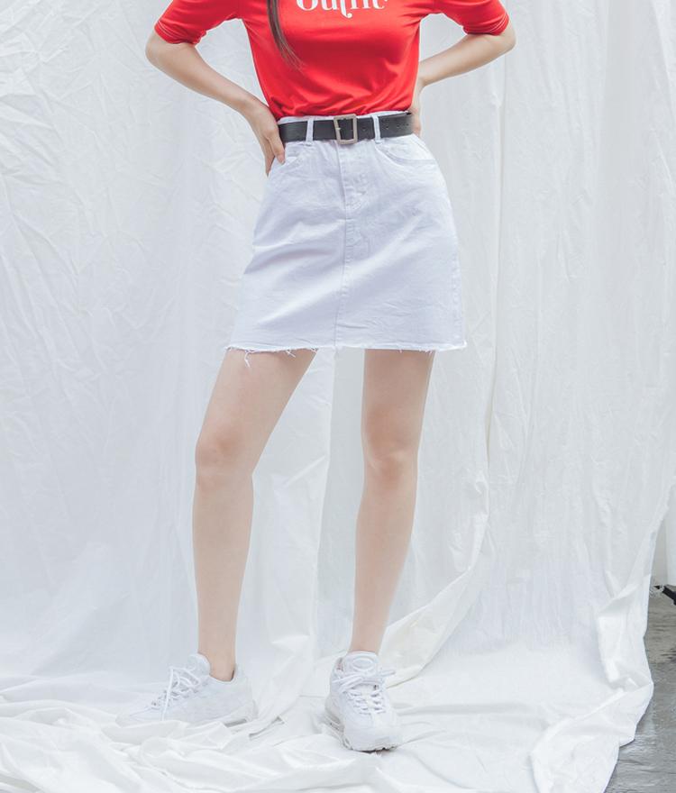 QUIETLABRaw Hem Mini Skirt