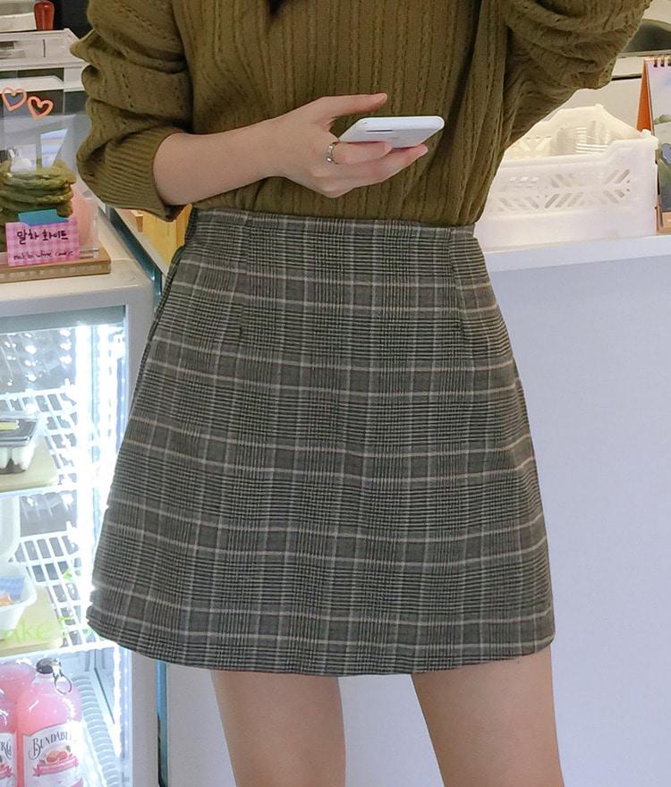 ESSAYCheck Mini Skirt