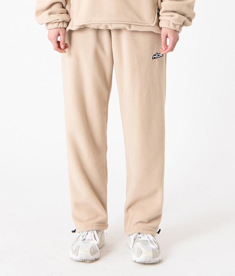 HIDEBeige Cord-Locked Hem Pants