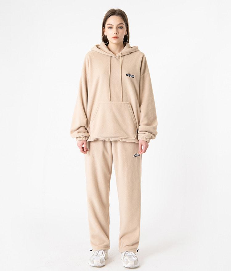 HIDE Future Fleece Hoodie(Beige)HIDE Future Fleece Pants(Beige)SET