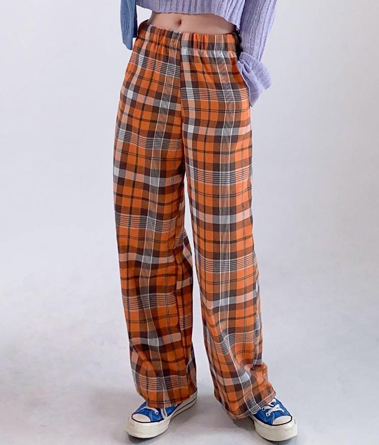 QUIETLABWide-Leg Check Pants