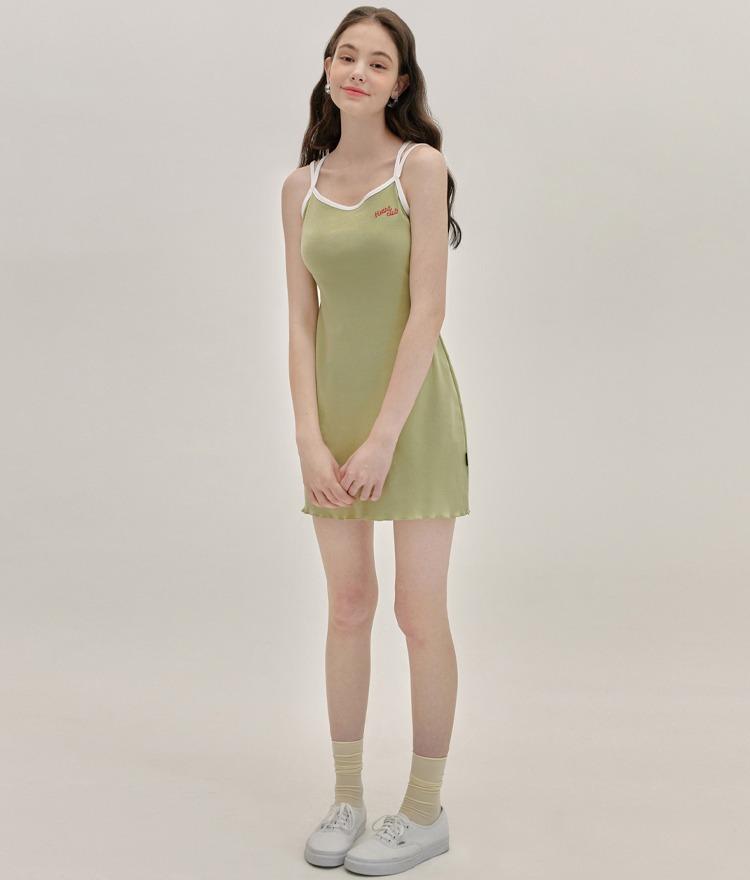 Heart Cross Sleeveless Dress (Light Green)