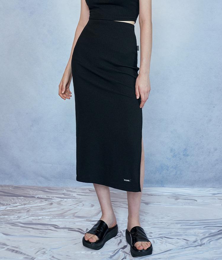 ディープスリットタイトスカート(ブラック)