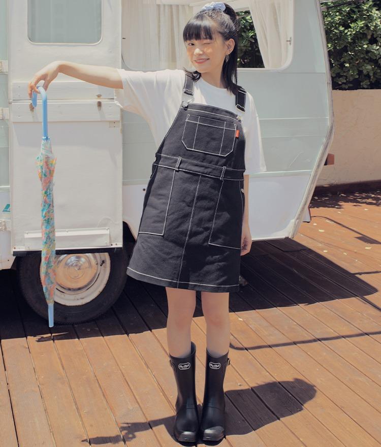 HEART CLUBBlack Overall Dress