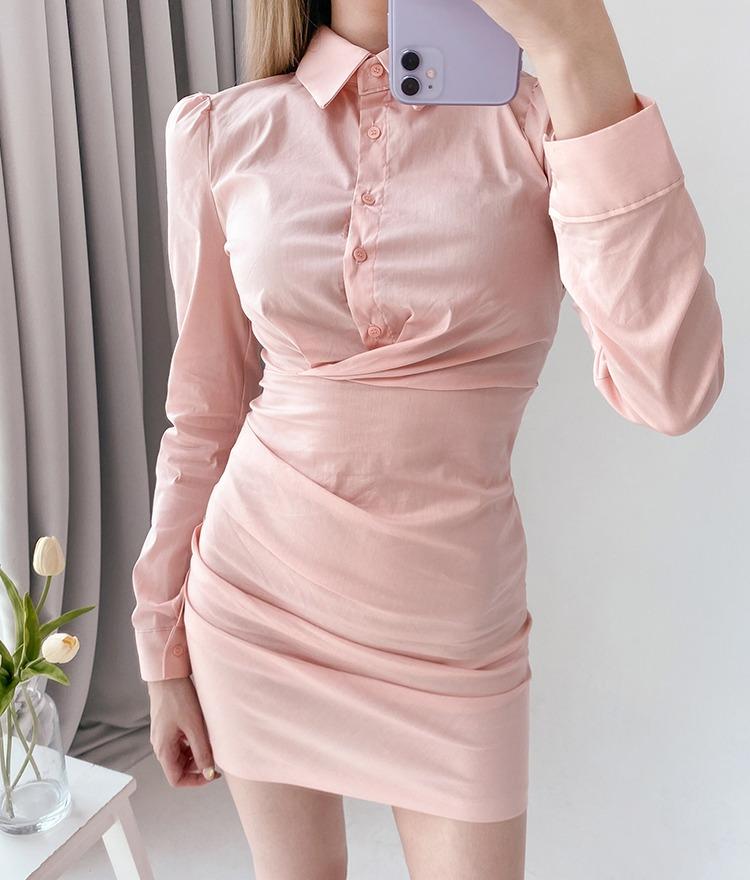 ROMANTIC MUSECollared Mini Dress