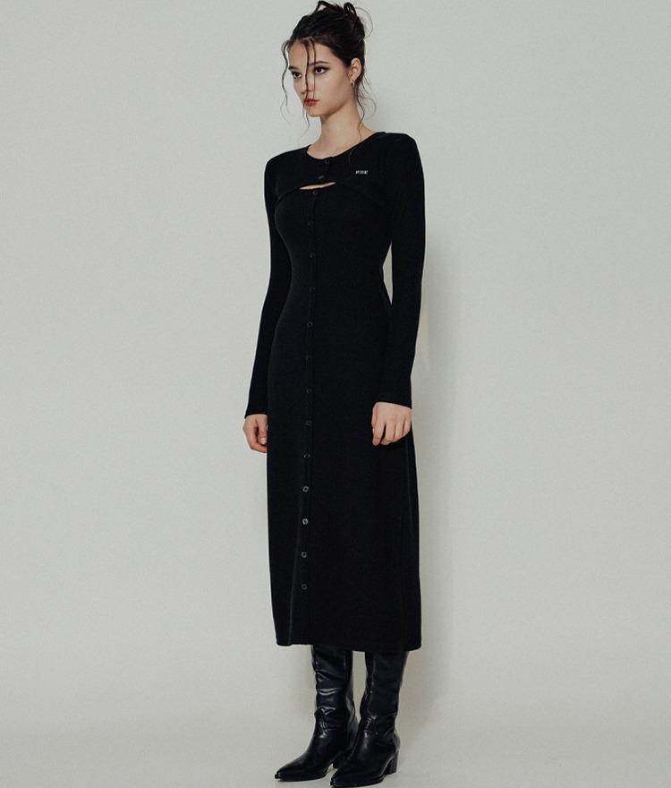 HIDEBlack Cutout Chest Dress