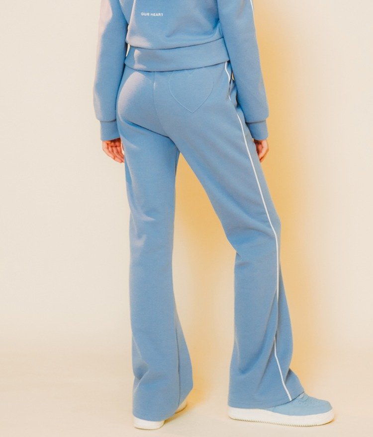 HEART CLUBContrast Piping Sky Blue Pants