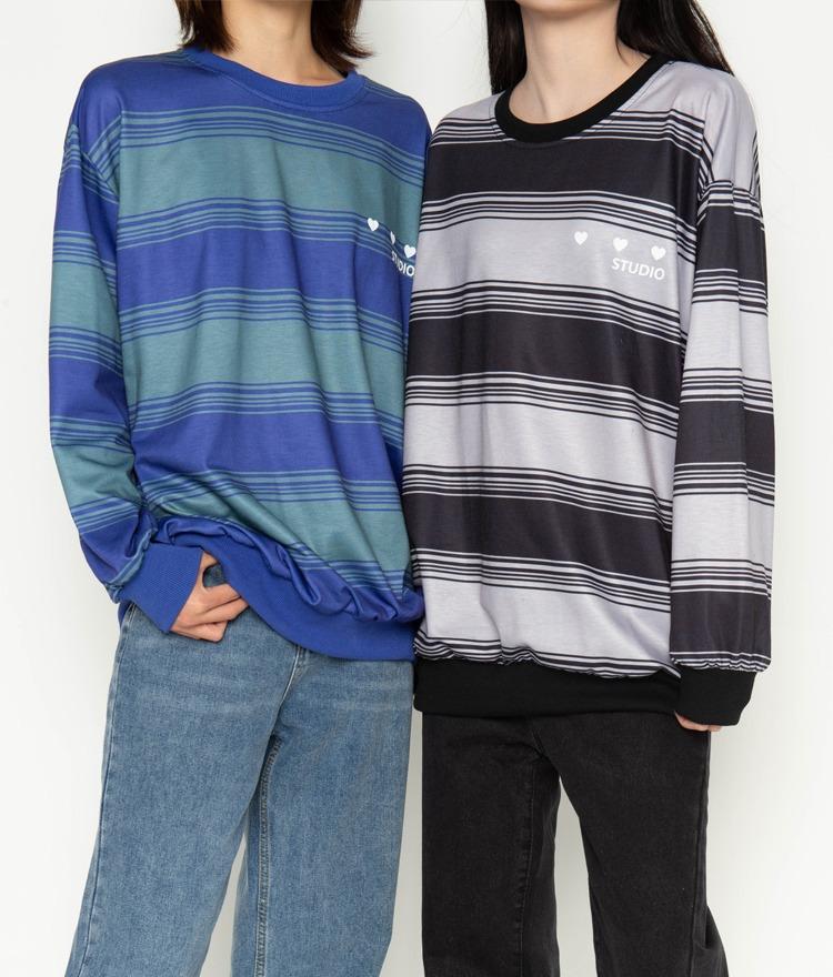 NEVERM!NDStriped Sweatshirt