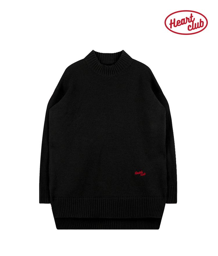 Heart Knit Dress (Black)