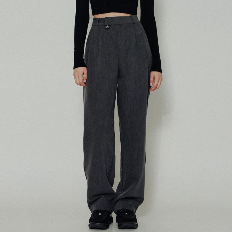 HIDE Pintuck Pants (Charcoal)