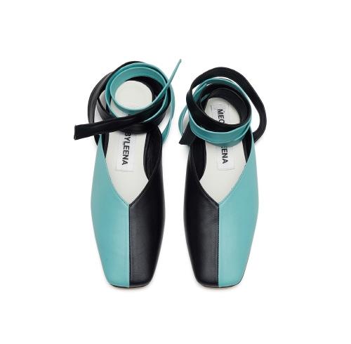 20%할인 Square toe lace up (bk/mt)