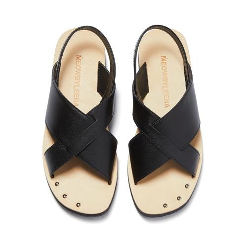 MW Cross Sandal (BLACK)