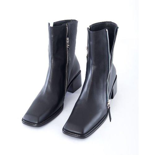 Squre toe Ankle Boots (black)