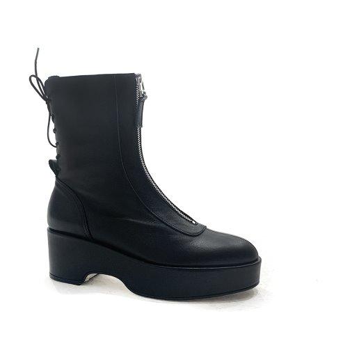Platform Zip Boots (Black)