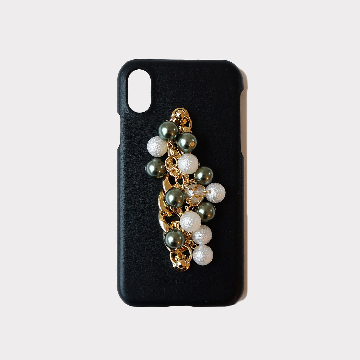 [cow leather body] gold mix ball case