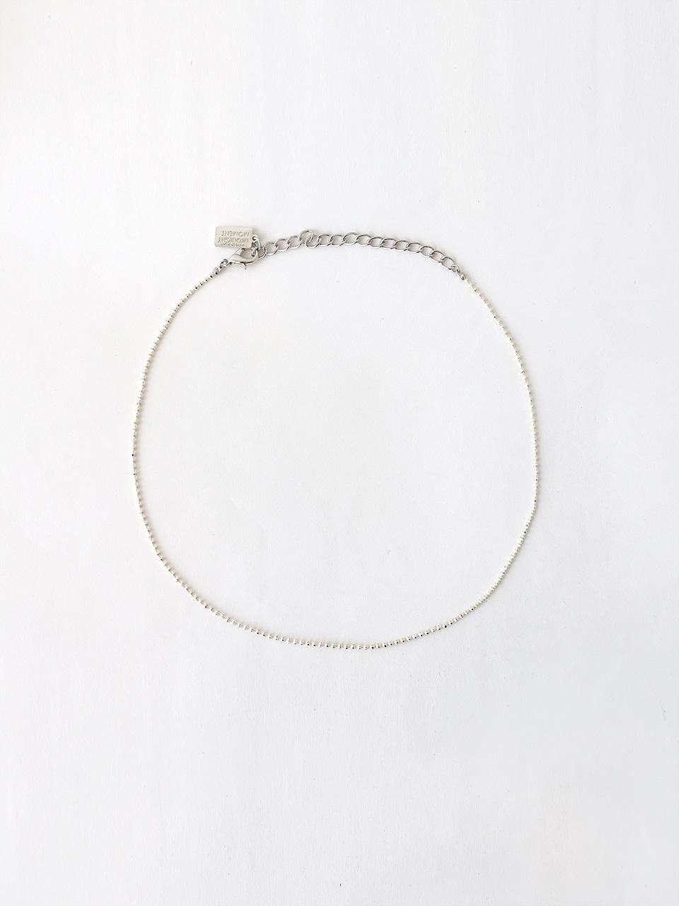 white ball chain necklace (choker)