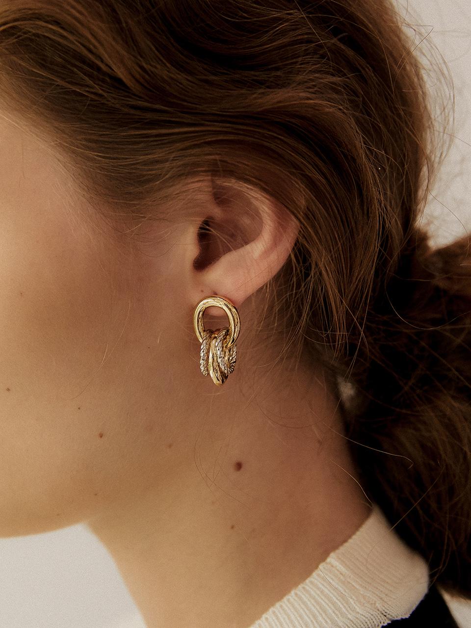 twin rope earring
