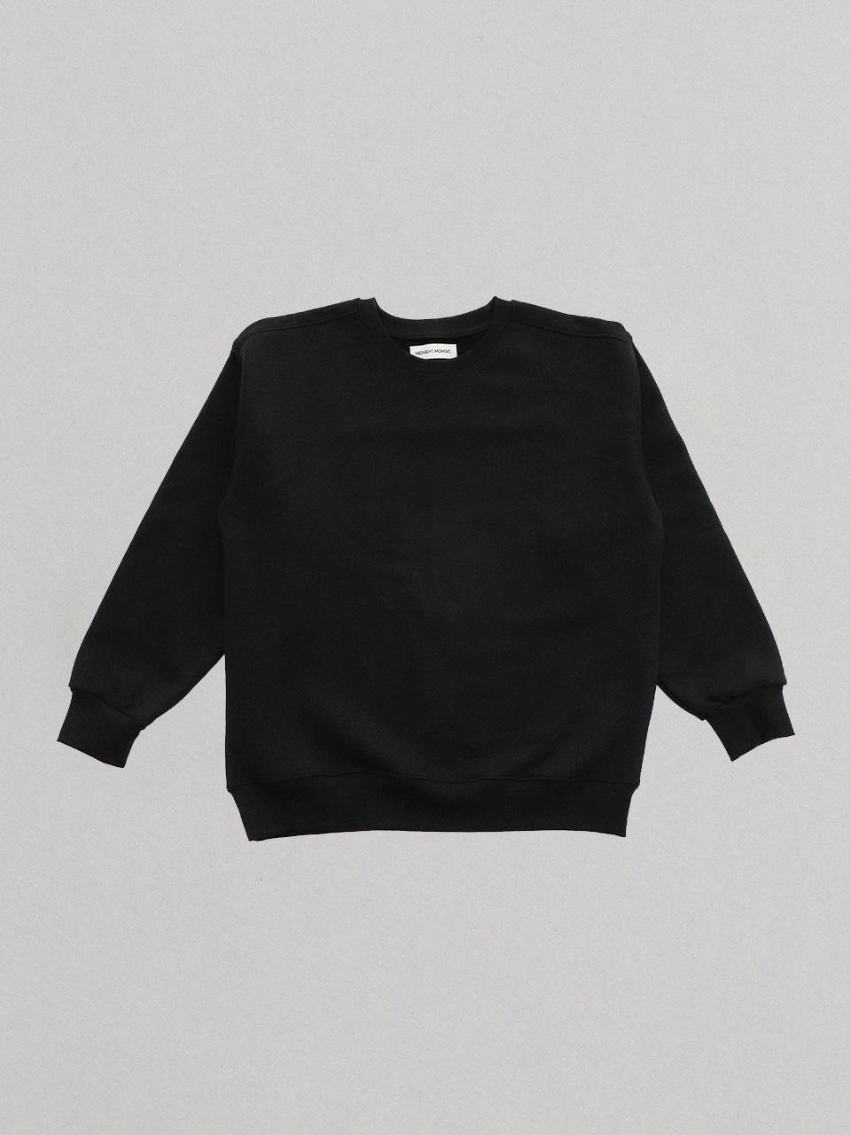 midnight basic sweatshirt - black