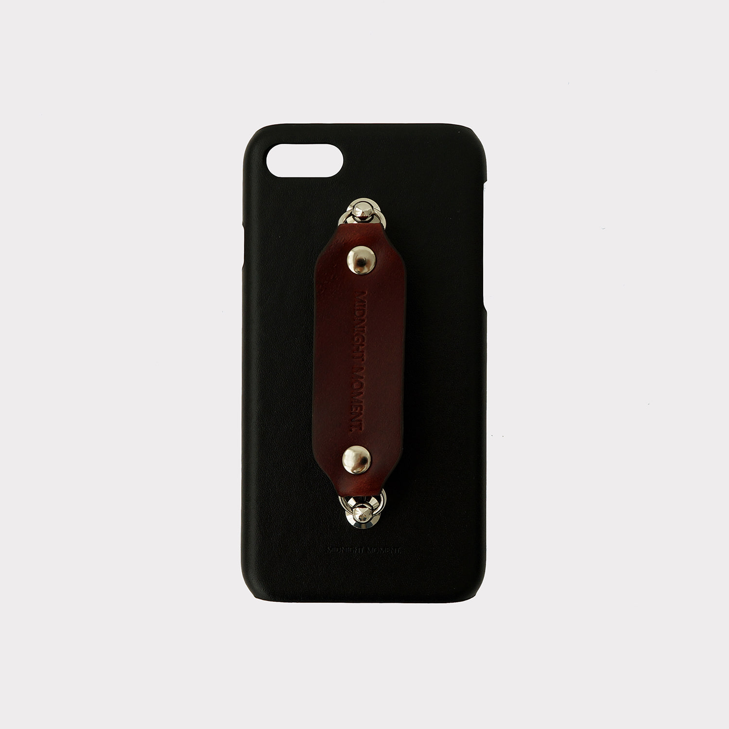 [cow leather body] all leather grip case - burgundy