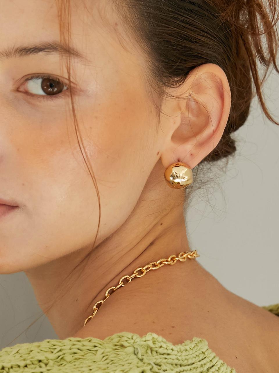 bumpy earring - gold