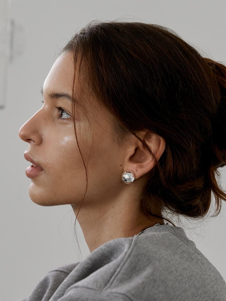 bumpy earring - silver