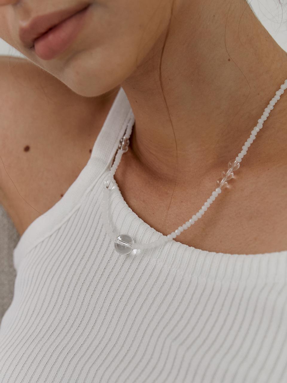 [레드벨벳 슬기 착용] pure quartz necklace
