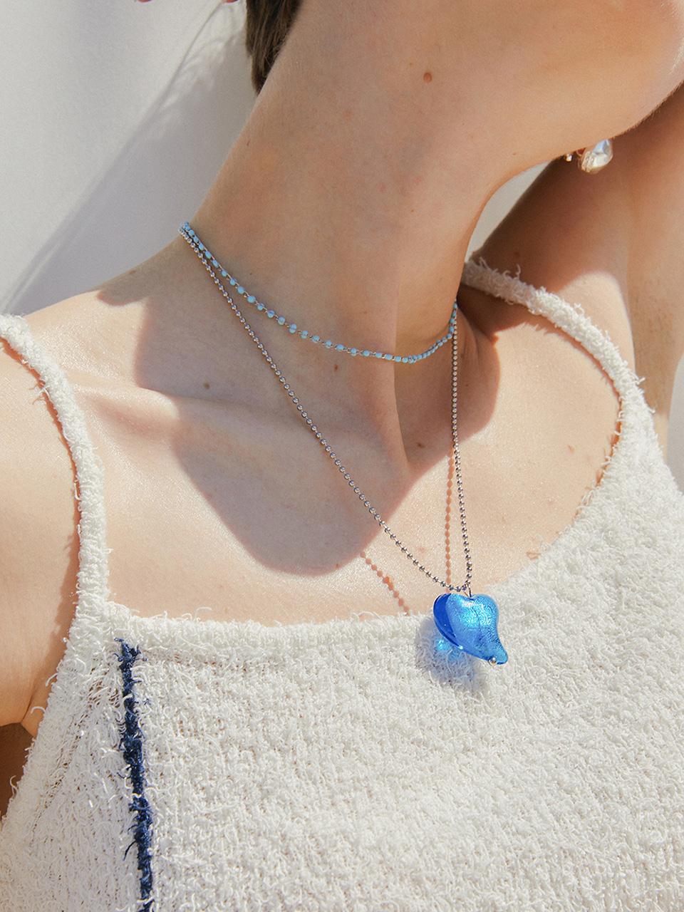 bluelove long necklace