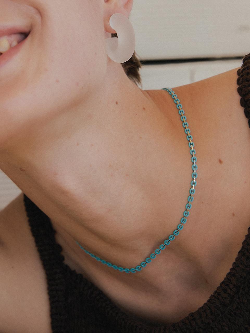 graze necklace - blue