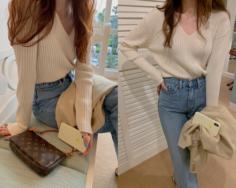 [단독] Sugar golgi knit (ivory)
